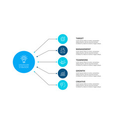 flowchart infographic template with steps or vector image
