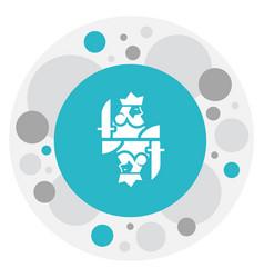 Gambling symbol on king vector