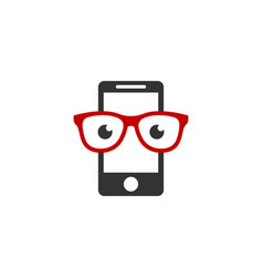 geek mobile logo icon design vector image