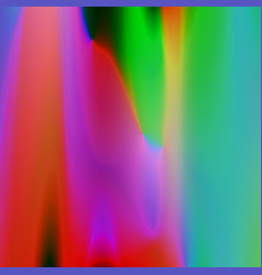 Glitch background with shiny glowing blurred vector