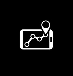 Gps navigation icon flat design vector
