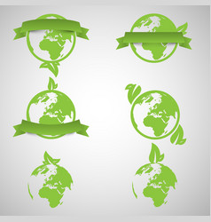 Green world ecology concepts vector