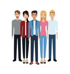 group people unity team vector image