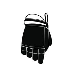 Hockey glove black simple icon vector