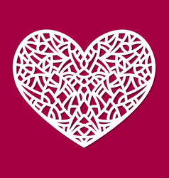 Laser cut heart ornament cutout pattern vector