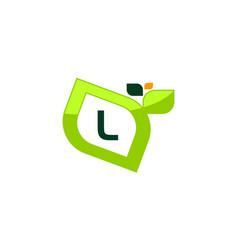 Leaf initial l logo design template vector