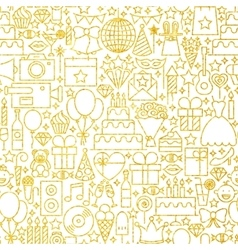 Line Gold White Party Tile Pattern vector image