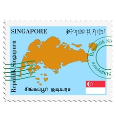 Mail to-from singapore vector