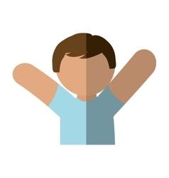 man male avatar cartoon social media icon vector image