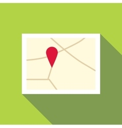Map icon flat style vector