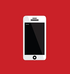 Mobile phone on red background vector