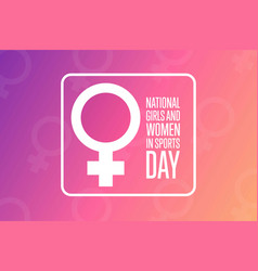 National girls and women in sports day holiday vector