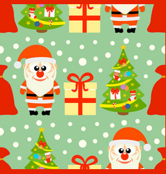 new year seamless card with santa claus and christ vector image