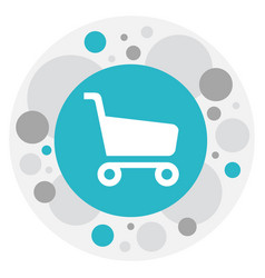 of shopping symbol on shopping vector image