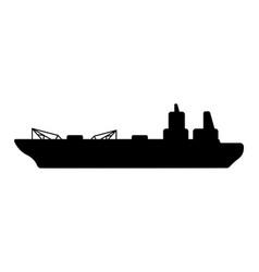 Oil marine tanker vector