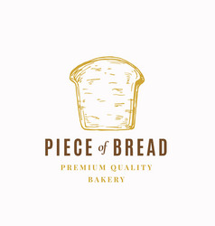 piece bread abstract sign symbol or logo vector image