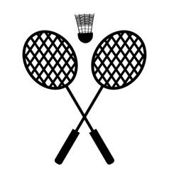 Playing badminton racket vector