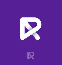 r logo monogram nterwoven lines vector image