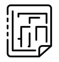 Reconstruction paper plan icon outline style vector