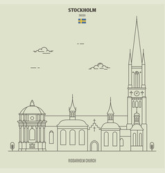 riddarholm church in stockholm sweden vector image