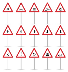 road sign color vector image