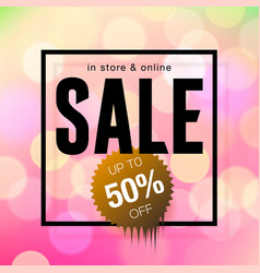 Sale banner template design pink blurred vector