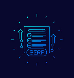 serp and seo optimization line icon vector image