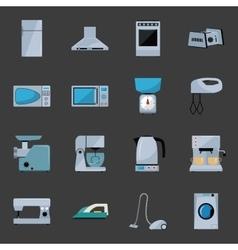 Set household appliances vector