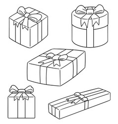 set of gift box vector image