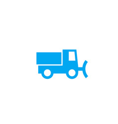 snowplow icon on white vector image
