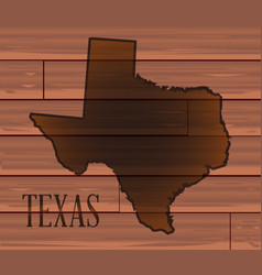 Texas branded on wood vector