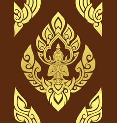 Thai traditional art thai art background thai vector