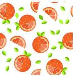 tiled seamless pattern of cartoon orange slices in vector image
