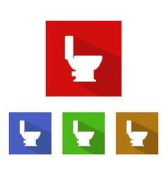Toilet icon vector
