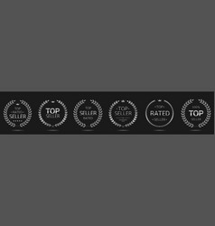 Top rated seller wreath label set vector