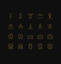 Transportation icons set part i vector