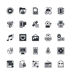 User Interface and Web Colored Icons 10 vector image