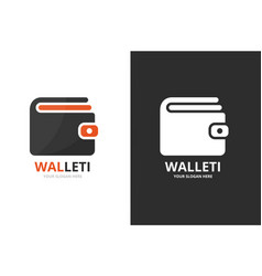 wallet logo combination purse symbol or vector image