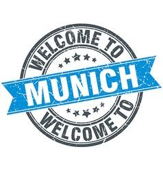 Welcome to Munich blue round vintage stamp vector