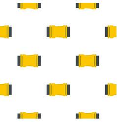 Yellow side release buckle pattern flat vector