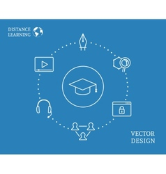 Education infographic vector image vector image