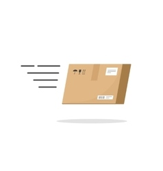 Fast delivery box service icon isolated on vector image