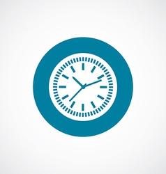 time icon bold blue circle border vector image