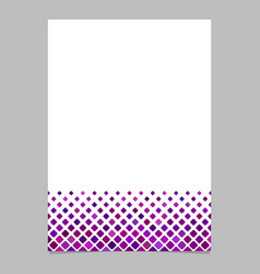 Abstract square pattern page background template vector