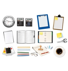 office supples big set and dairy vector image vector image