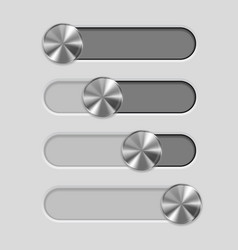 web interface slider user interface control bar vector image