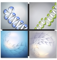 Abstract backgrounds with ribbons and squares vector image vector image