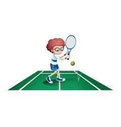 An athletic boy vector image vector image