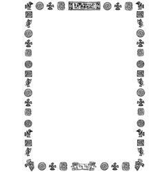 Border of black mexican signs vector