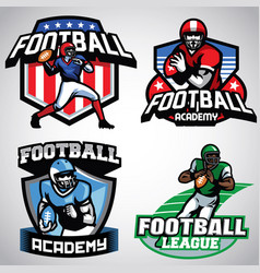 collection of american football badge designs vector image vector image